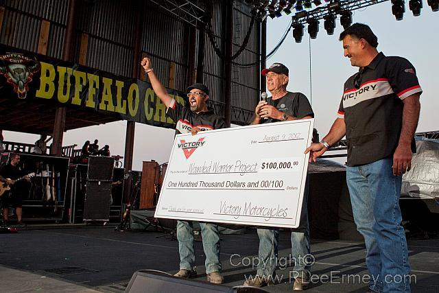 Robert Pandya R.Lee Ermey and Steve Menneto on Buffalo Chip Stage.jpg