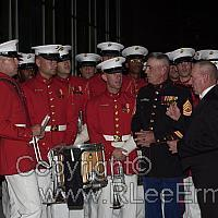 Ermey and Marine Band