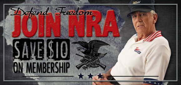 Gunny Ermey says Save $10.00 and JOIN the NRA TODAY!